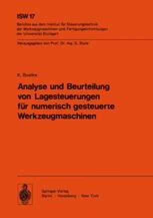 Analyse und Beurteilung von Lagesteuerungen für numerisch gesteuerte Werkzeugmaschinen