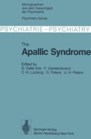 The Apallic Syndrome