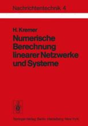Numerische Berechnung linearer Netzwerke und Systeme