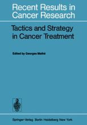 Tactics and Strategy in Cancer Treatment