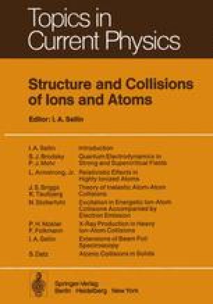Structure and Collisions of Ions and Atoms