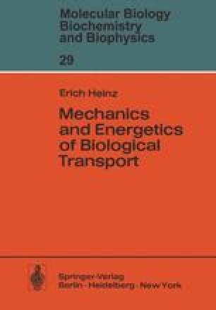 Mechanics and Energetics of Biological Transport