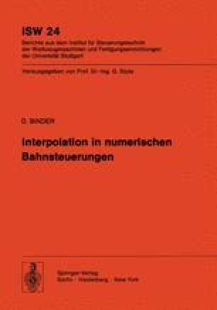 Interpolation in numerischen Bahnsteuerungen