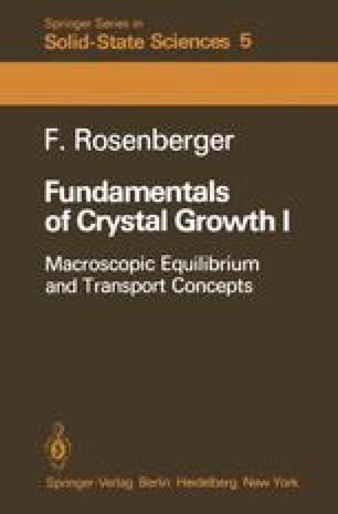 Fundamentals of Crystal Growth I