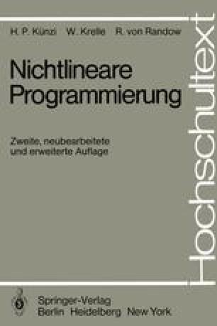 Nichtlineare Programmierung