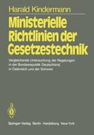 Ministerielle Richtlinien der Gesetzestechnik
