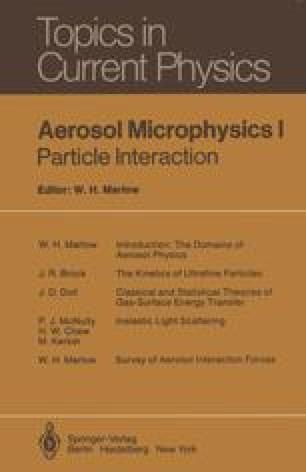 Aerosol Microphysics I