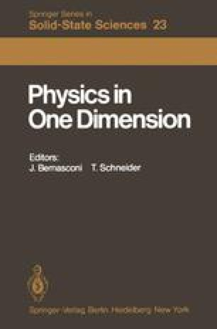 Physics in One Dimension