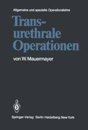 Transurethrale Operationen
