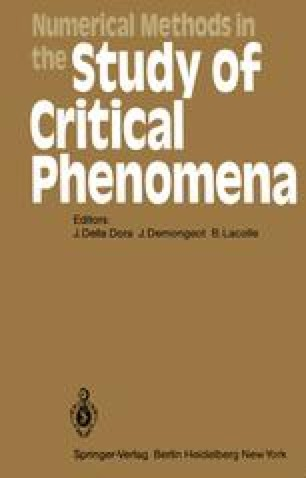 Numerical Methods in the Study of Critical Phenomena