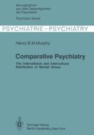Comparative Psychiatry