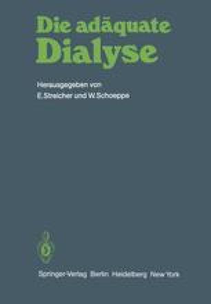 Die adäquate Dialyse