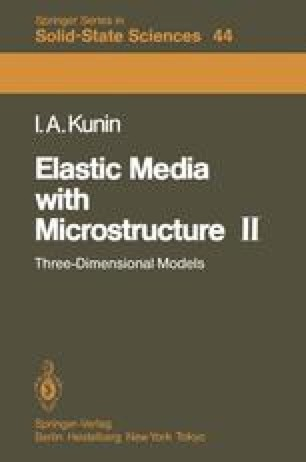 Elastic Media with Microstructure II