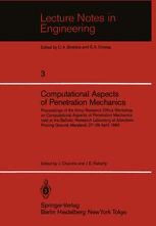 Computational Aspects of Penetration Mechanics
