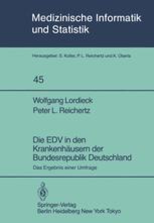 Die EDV in den Krankenhäusern der Bundesrepublik Deutschland