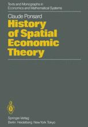 History of Spatial Economic Theory