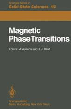 Magnetic Phase Transitions