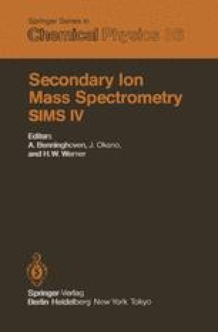 Secondary Ion Mass Spectrometry SIMS IV