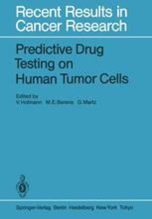 Predictive Drug Testing on Human Tumor Cells