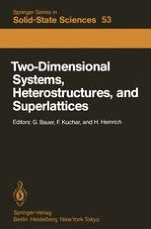 Two-Dimensional Systems, Heterostructures, and Superlattices