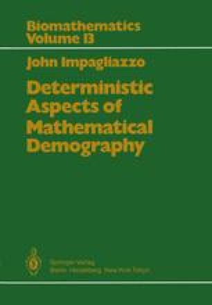 Deterministic Aspects of Mathematical Demography