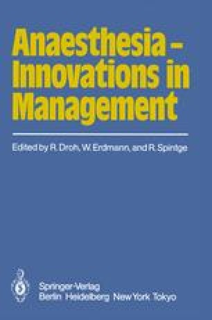 Anaesthesia — Innovations in Management