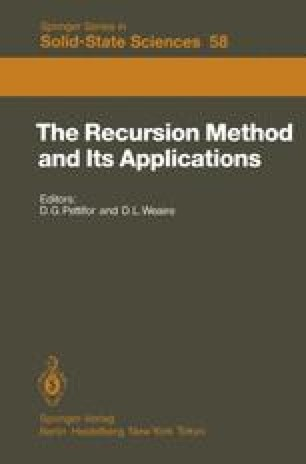 The Recursion Method and Its Applications