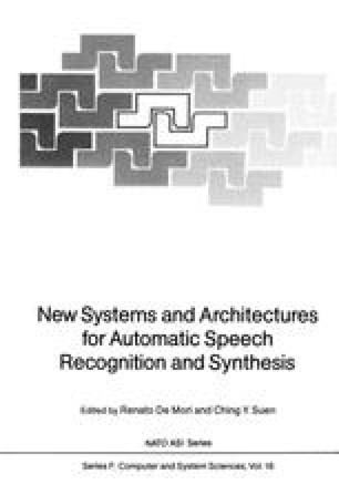 New Systems and Architectures for Automatic Speech Recognition and Synthesis