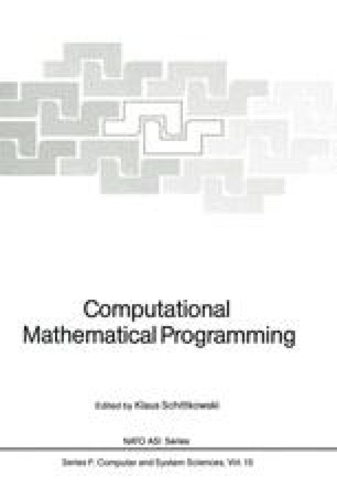 Computational Mathematical Programming