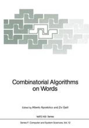 Combinatorial Algorithms on Words