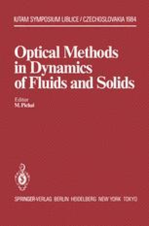 Optical Methods in Dynamics of Fluids and Solids