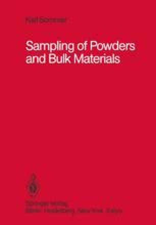 Sampling of Powders and Bulk Materials