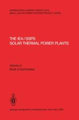 The IEA/SSPS Solar Thermal Power Plants — Facts and Figures— Final Report of the International Test and Evaluation Team (ITET)