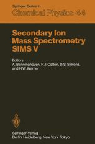 Secondary Ion Mass Spectrometry SIMS V