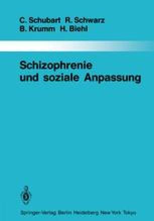Schizophrenie und soziale Anpassung