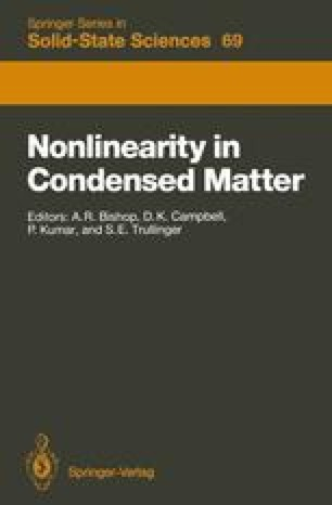Nonlinearity in Condensed Matter