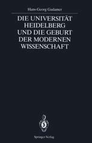 Die Universität Heidelberg und die Geburt der Modernen Wissenschaft