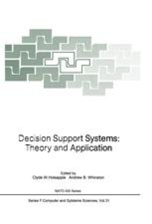 Decision Support Systems: Theory and Application