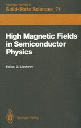 High Magnetic Fields in Semiconductor Physics