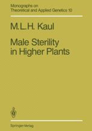 Male Sterility in Higher Plants