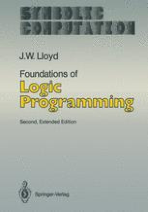 Foundations of Logic Programming