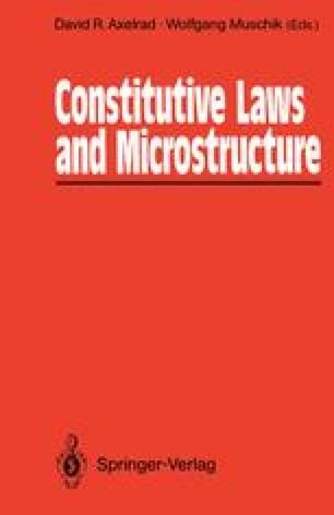 Constitutive Laws and Microstructure