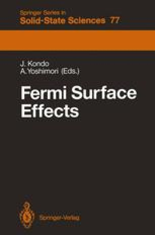 Fermi Surface Effects