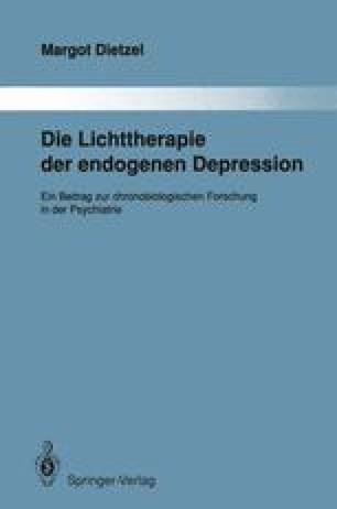 Die Lichttherapie der endogenen Depression