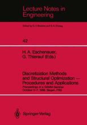 Discretization Methods and Structural Optimization — Procedures and Applications