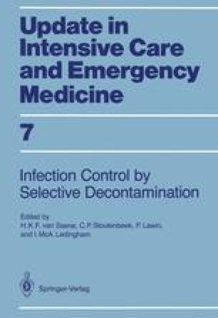 Infection Control in Intensive Care Units by Selective Decontamination
