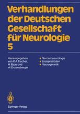 Verhandlungen der Deutschen Gesellschaft für Neurologie