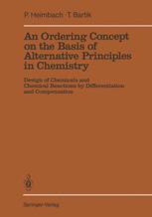 An Ordering Concept on the Basis of Alternative Principles in Chemistry