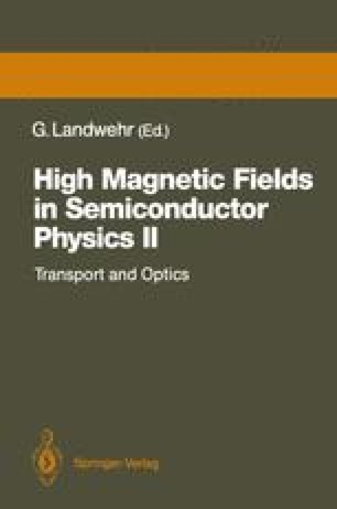 High Magnetic Fields in Semiconductor Physics II