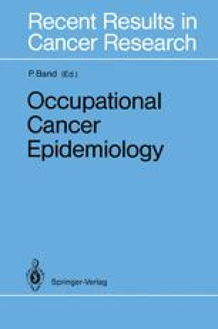 Occupational Cancer Epidemiology